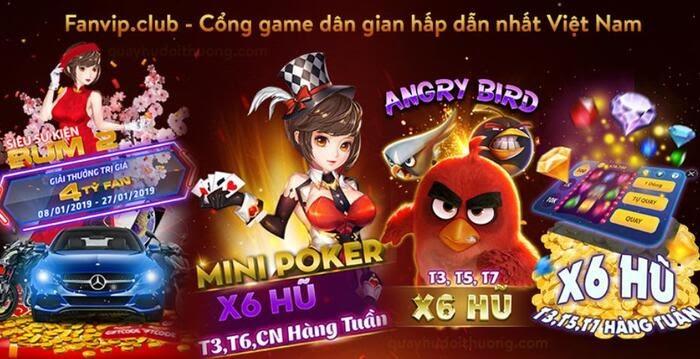 Fanvip là cổng game hấp dẫn hàng đầu ở Việt Nam