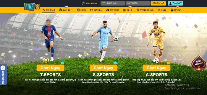 Cá cược thể thao tại Five88