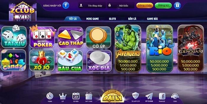Zclub - kho tàng game online đỉnh cao