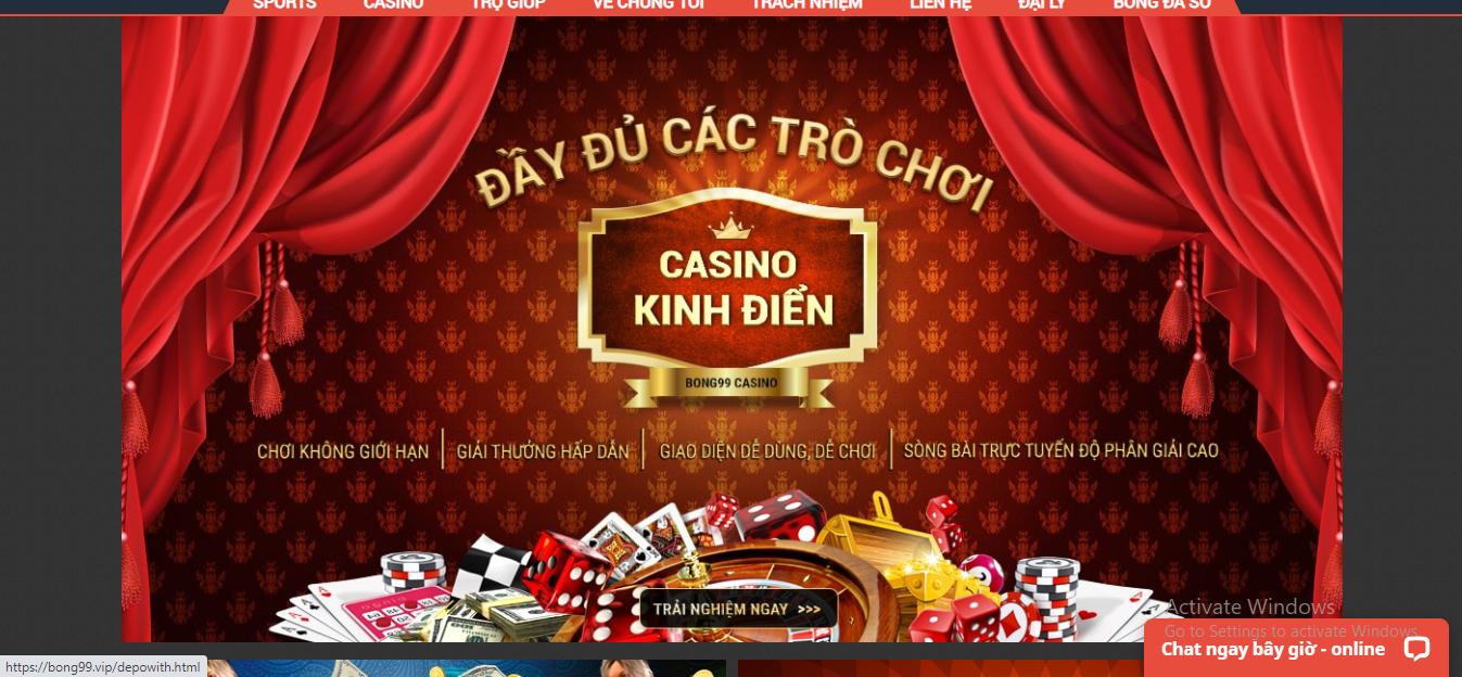 Nhà cái uy tín Bong99 - Sân chơi cá cược thể thao trực tuyến uy tín, đẳng cấp