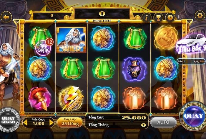 Game Slot với hình ảnh vô cùng đẹp mắt, thể hiện được chủ đề của game