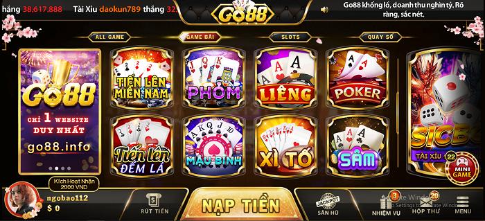 GO88 | Đánh giá game bài nổ hũ GO88 | Link tải GO88 mới nhất