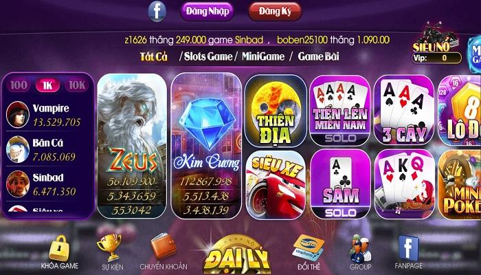 Sieuno.win – Review chi tiết cổng game sieuno.win đổi thưởng uy tín và hấp dẫn