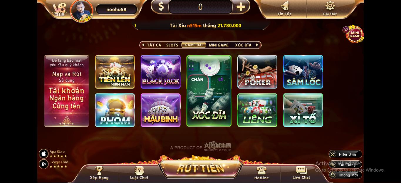 Game bài đổi thưởng V8 Club - sự đột phá trong làng đổi thưởng Việt Nam