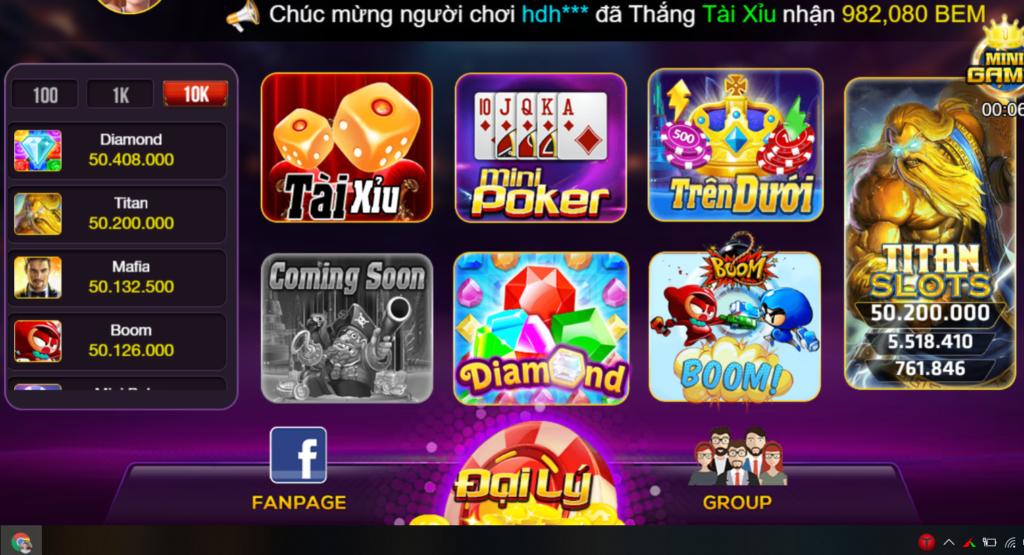Bem Club - cổng game uy tín số 1 tại Việt Nam