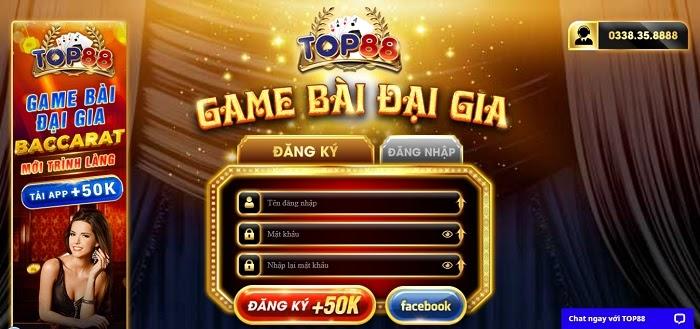 Cổng game bài đổi thưởng Top88