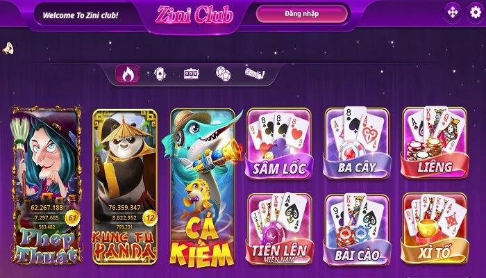 Kho game Zini Club cực khủng, đa thể loại