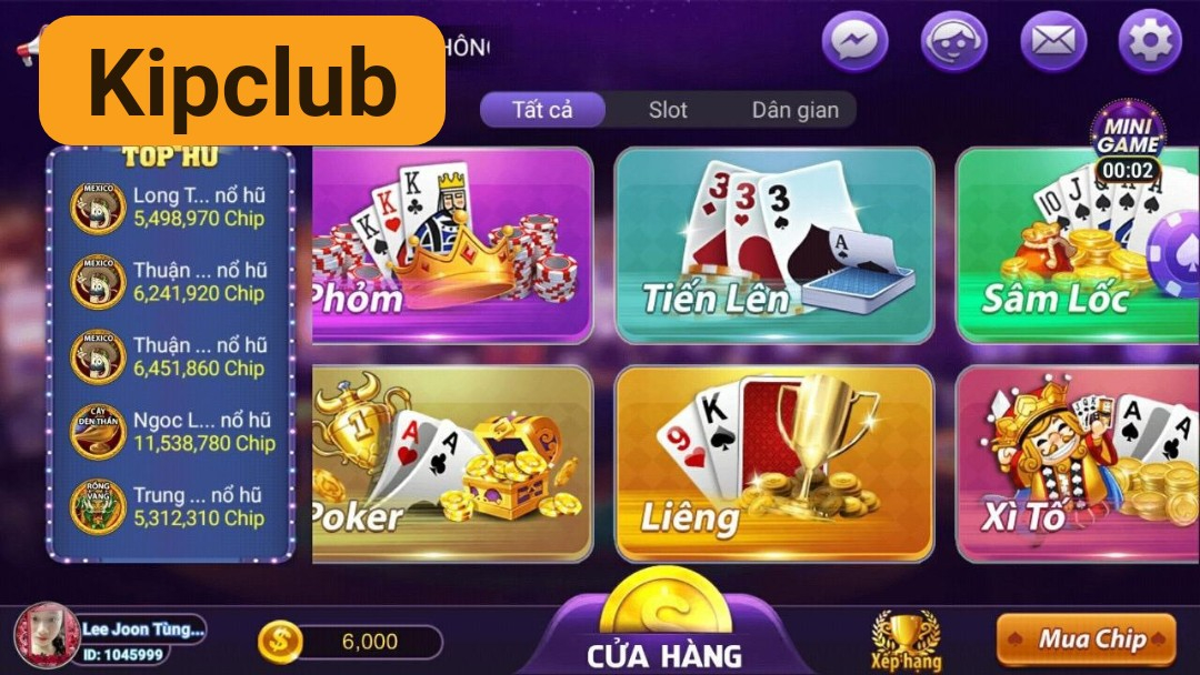 Kipclub – Sảnh chơi game slot đổi thưởng mang tầm quốc tế