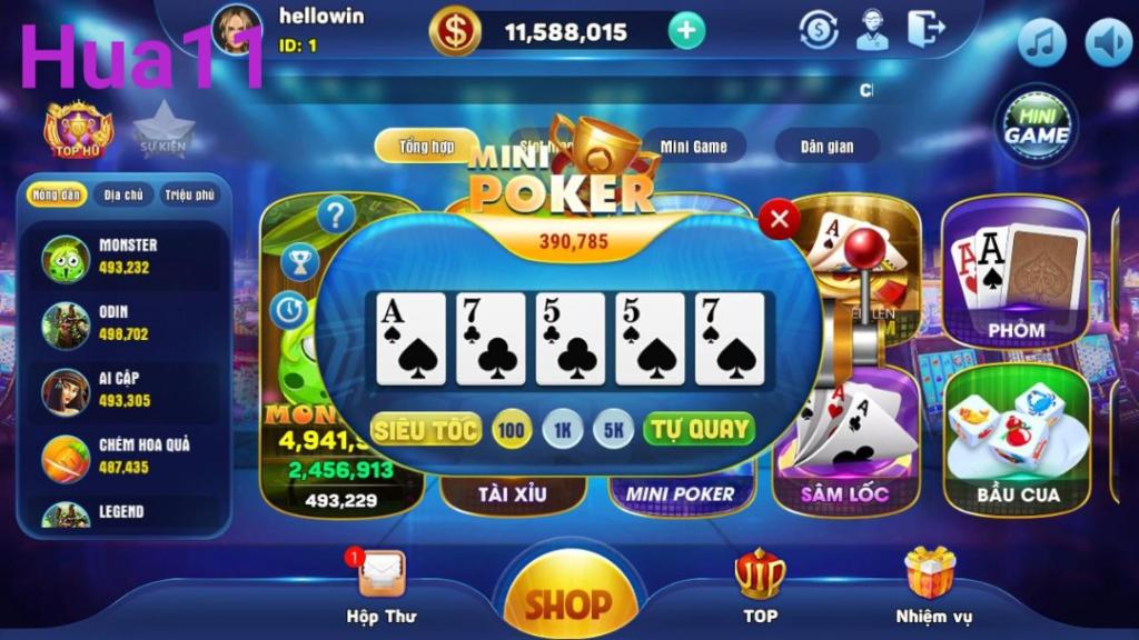 Poker là game bài thú vị được nhiều anh em tham gia tại cổng game