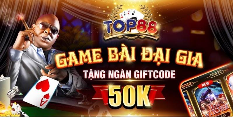 Top88 là cổng game sở hữu nhiều khuyến mãi lớn