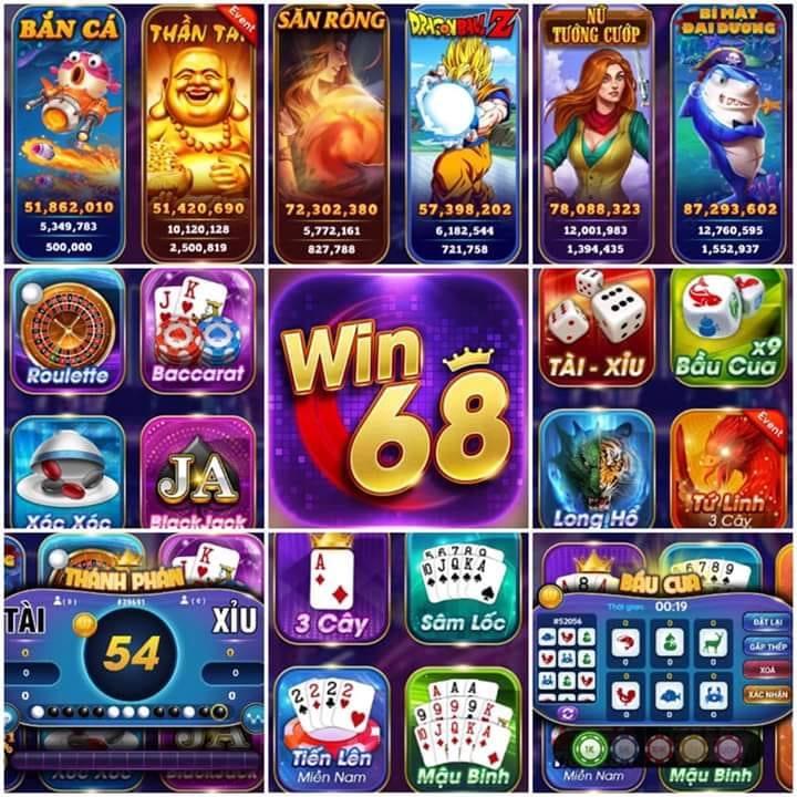 Win68 – Cổng game hội tụ những tựa game đổi thưởng hot nhất hiện nay