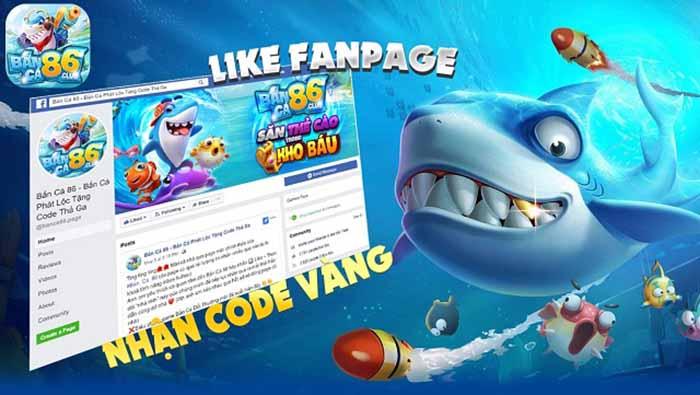 Nhận code qua fanpage