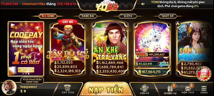 Game bài đổi thưởng Yo88 - cổng đánh bài số một tại Việt Nam