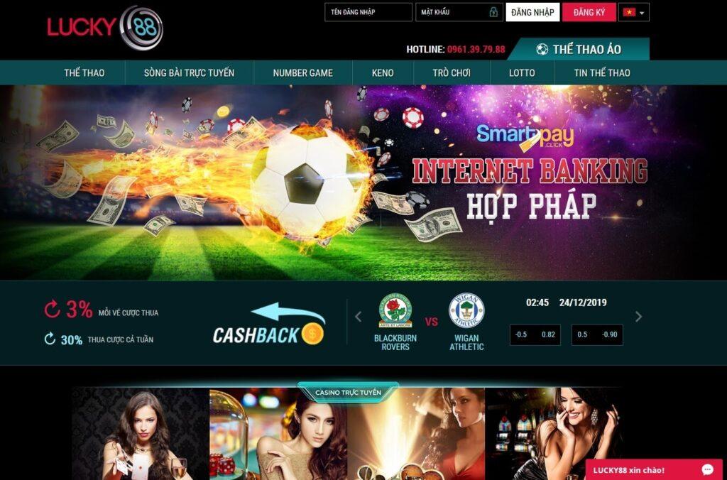 Các trò chơi hấp dẫn trên website nhà cái Lucky88