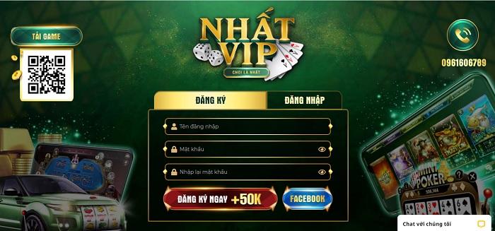 Nhấn chọn đăng ký để tạo tài khoản tại Nhat.vip
