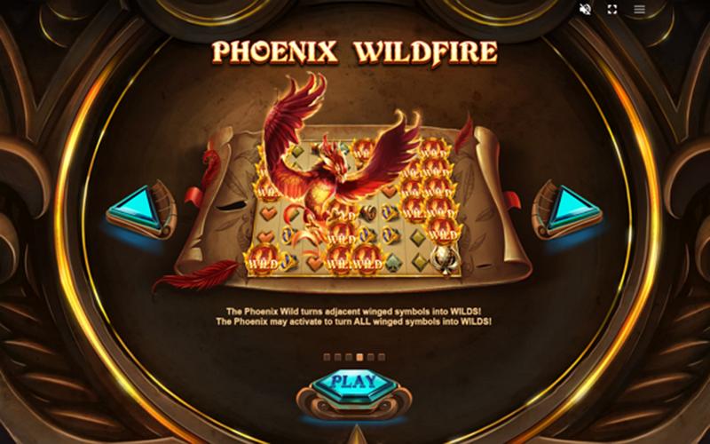 Phượng hoàng tái sinh trong Phoenix Fire Power Reels