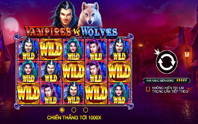 Tính năng game slots Vampires vs Wolves