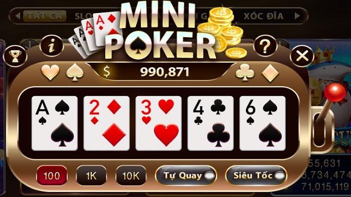 Mini Poker trò game nổ hũ cực hot, cực chất hiện nay