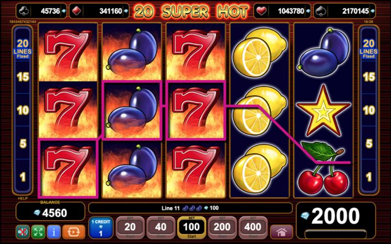 Tính năng thanh toán trong game slot 20 Super Hot