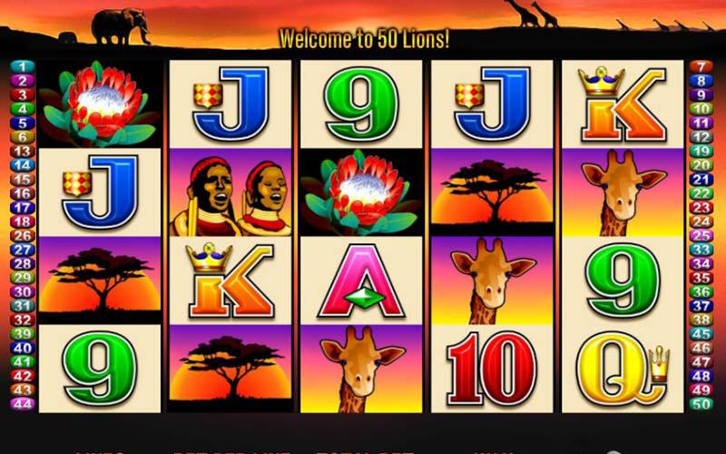Giới thiệu game slot 50 Lions