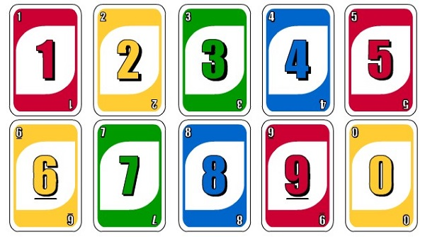 Các lá bài số trong uno