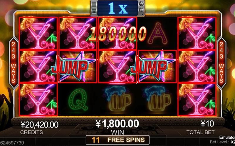 Tính năng thưởng trong game slot Jump High