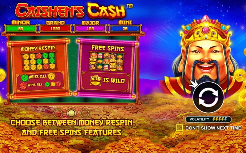 Tính năng trong game đổi thưởngCaishen's Cash