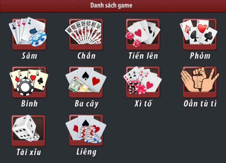 Chọn game bài phù hợp với mình